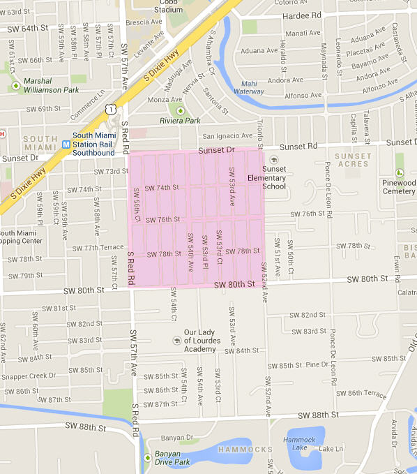 High Pines Miami Gated Munities: Map Of Miami City Limits At Usa Maps